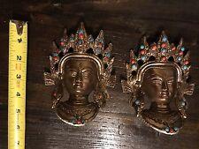 Tara Masks Set Of 2 Tibetan Buddhist Wall Art Shrine Altar