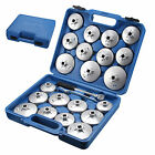 23x Cap Type Oil Filter Wrench Set Socket Tools Automotive Removal Kit Tool