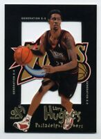 1998-99 E-X Century LARRY HUGHES Rare GENERATION E-X INSERT Rookie Card RC #1 GE