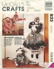 McCalls 833 Cow & Chicken Draft Busters Sewing Craft Pattern