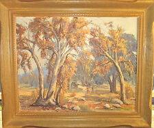 Vintage Original Framed Oil Painting by California Artist Mabel Cage - Plein Air