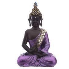 Buddha Figure - Purple & Black Meditating Thai Buddha - Contemplation