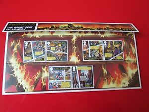 Great Fire of London Presentation Pack 6 STAMPS Royal Mail 2016