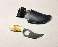 Vintage 1980' Pakistan Small Dirk Knife Camel Bone Handle With Sheath Mint