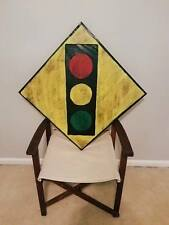 Custom Made 3D STOPLIGHT AHEAD SIGN - HIGHWAY SIGNS - All Types, Rustic Wood