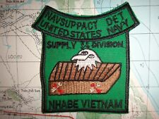 Vietnam War Patch US Navy NAVSUPPACT DET. SUPPLY DIVISION At NHA BE