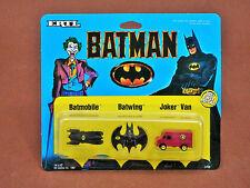 BATMAN DIE CAST VEHICLES MICRO SET BATMOBILE BATWING JOKER VAN
