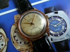 Clean Vintage Men's 1970's Timex Automatic Water Resistant Mechanical Watch Runs