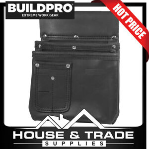 BuildPro Nail Bag LARGE Leather Heavy Duty Stitching Pouch LBNBS2B