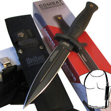 Combat Commander BOOT KNIFE Dagger w/SHOULDER HARNESS Sheath - United Cutlery