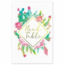 25x Cactus Theme Table Number 1-25 Cards for Weddings, 4 x 6 inch, Gold Foil