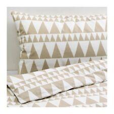 Ikea Blasuga Single Quilt/Duvet Cover & Pillowcase, Beige/White, cotton flannel