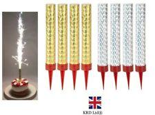 4pk Sparkling Birthday Party Cake Topper ICE Fountain Candles Wedding Decor UK