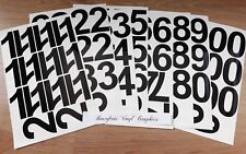"1"", 2"", 3"", 4"", 5"", 6"" STICKY SELF ADHESIVE VINYL NUMBERS 0-9 DECALS STICKERS"