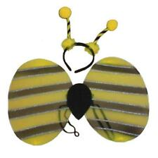 KIDS BUMBLE BEE COSTUME - HEADBAND AND WINGS GIRLS FANCY DRESS PARTY ACCESSORY