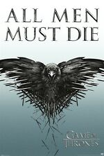 GAME OF THRONES POSTER ~ ALL MEN MUST DIE 24x36 TV Valar Morghulis Bird