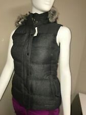 * Eddie Bauer Noble Down Vest, Womens Dark Charcoal Heather Small NWT