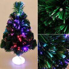 45cm LED Fibre Optic Christmas Tree Light up Luminous Artificial Home Xmas Tree