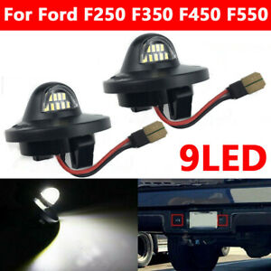 2x 9LED License Plate Light Tag Lamp Assembly Replacement For Ford F150 F350
