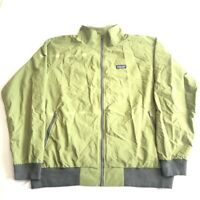 Patagonia Mens Windbreaker Jacket Green Zipped Pockets Mesh Mock Neck XXL