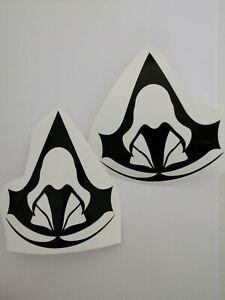 2x Assassins Creed Aufkleber logo wunschfarbe Größe  Konsole sticker Oracal