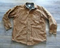 CARHARTT duck canvas traditional Flannel Lined Jacket faded distressed Mens 2XLT