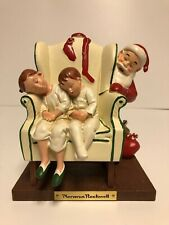 Norman Rockwell Santa With Sleeping Children In A Chair Figure