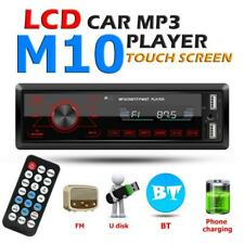 Single 1 DIN Car Stereo MP3 Player In Dash Bluetooth USB AUX-in Radio Head Unit