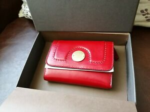 The Bridge Red Leather Ladies trifold Purse BNWT