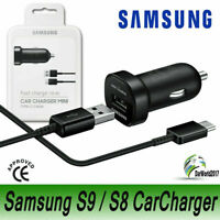 OEM Samsung Galaxy FAST Car Charger Type-C USB Cable S8,S8+,S9,S9+,S10,Note 8 9