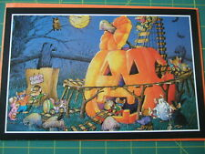 Happy Halloween Card with Envelope glitter mice mouse party pumpkin new