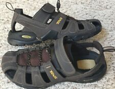 Teva  Mens Sandals Size 9 Leather Closed Toe Bungee Cord Hiking Wet Dry Sport