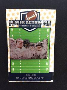 Chicago Bears Walter Payton,Mike Ditka, Jim McMahon,Halas lapel pin-Mt. Bearmore