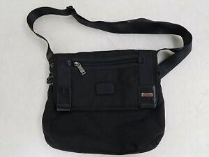 TUMI Black Mesh Crossbody Bag
