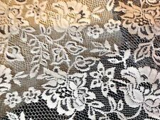"NEW Designer Ivory black Stretch Floral Lace Fabric 63"" 160cm Rachael Dress Trim"