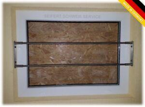 Edelstahl Sicherheitsstange Fenstersicherung Einbruchschutz Keller Fenstergitter