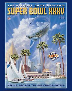 Super Bowl XXXV (2001 - Ravens vs Giants) Game Program - 8x10 Photo