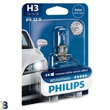 1x H3 Philips WhiteVision 55W Upgrade Car Headlamp Bulb 12336WHVB1