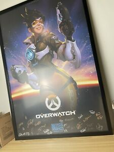 Blizzcon 2019 Exclusive Official Overwatch Tracer Signed Poster 27x40