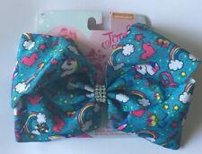 NEW JoJo Siwa Large Hair Bow-Dance Moms Cheer Jo Jo-unicorn Stars Rainbow Clouds