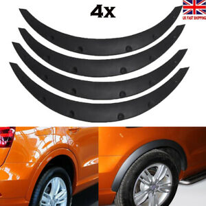 Universal 4pcs Car Fender Flare Extension Wheel Eyebrow Arch Trim Protector Lip