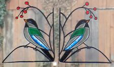 WICOART WINDOW COLOR STICKER CLING FAUX STAINED GLASS ART LOT 2 CORNERS BIRDS