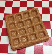 Realistic Faux Play Fake Food Replica Breakfast WAFFLE 3D Fridge MAGNET