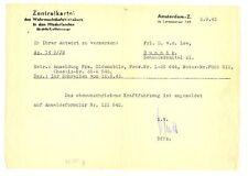 NEDERLAND-WO 2-1943-MELDINGSFORMULIER KRAFTFAHRZEUG - PRACHT