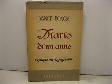 BONOMI Ivanoe, Diario di un anno (2 giugno 1943-10 giugno 1944)