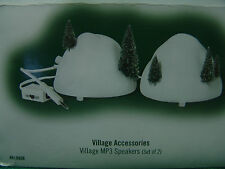 DEPARTMENT 56 VILLAGE ACCESSORIES VILLAGE MP3 SPEAKERS SET OF 2 IN ORIG BOX