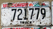WISCONSIN Truck License Plate - Craft / Roadkill - Pick Your Plate