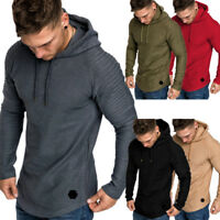 Men's Winter Hoodie Warm Hooded Sweatshirt Sweater Coat Jacket Outwear Pullover
