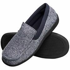 Hanes Men's Slippers House Shoes Moccasin Comfort Memory Foam Indoor Outdoor ...