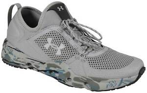 Under Armour Micro G Kilchis Men's Fishing Shoes - Mod Gray / Camo - New